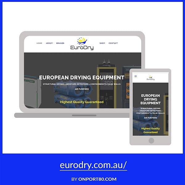 Another launch 🙂 The new website for Eurodry is another way for @restoresolutions to promote their #structuraldrying equipment. It was fun playing with a Squarespace one-page template. Check it out at eurodry.com.au 🔗💻. . . . . #onport80webdesign #webdesign #brisbanewebdesign #onlinemarketing #squarespace #brisbane #bulimbabusiness #smallbusiness #marketing #brisbanebusiness #bulimba #hawthorne #webdesigntips #fontstyle #font #branding #brand #seo #squarespacedesigner #tip #drymatic #restoration #heatdrying #timberfloor