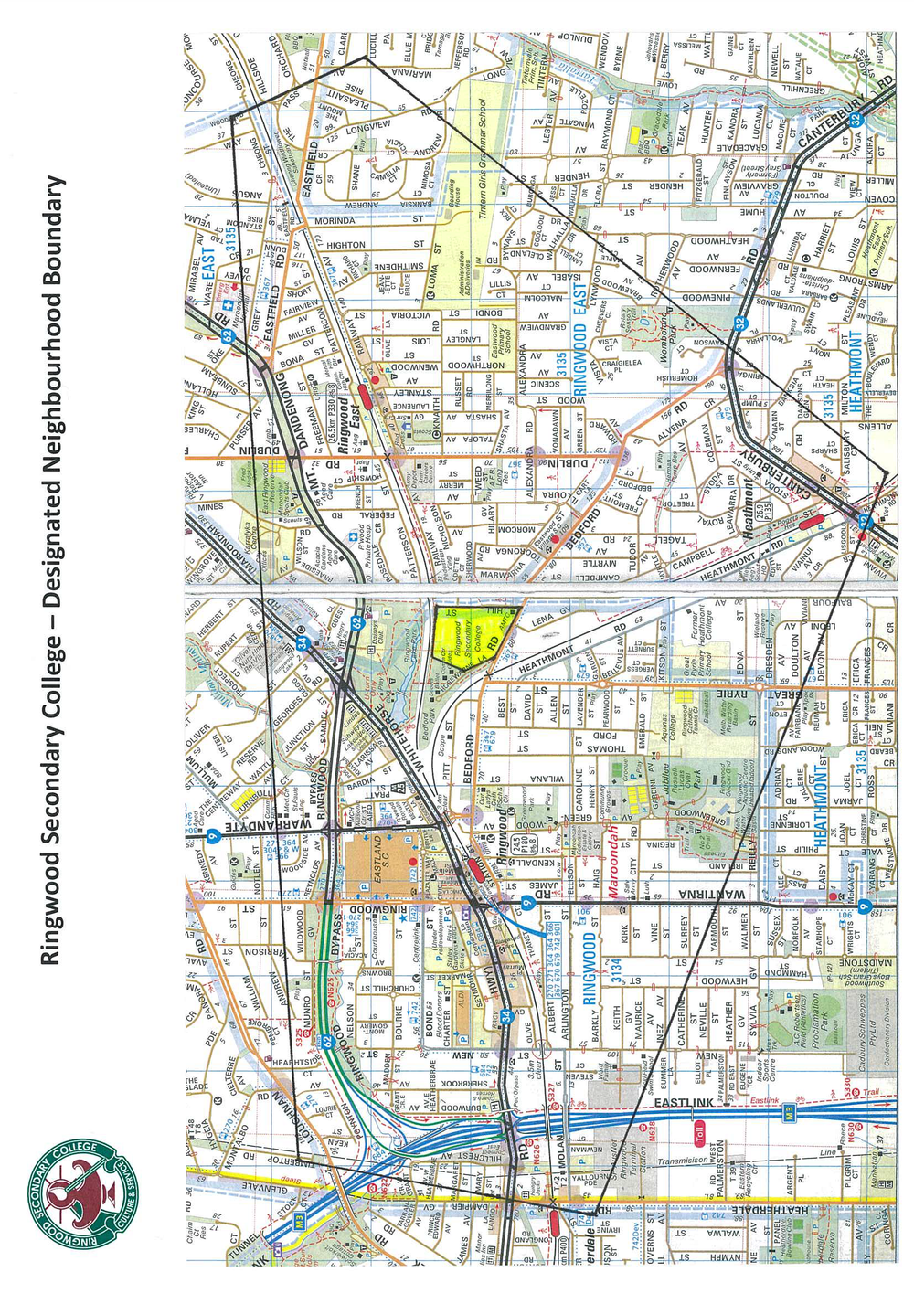 Ringwood Secondary College Zoning Map -