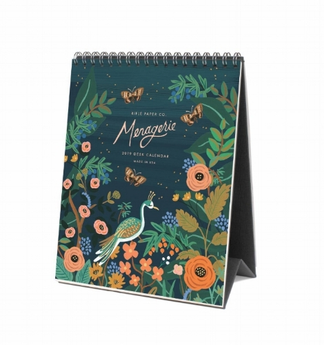 Rifle Paper co. midnight menagerie desk calendar