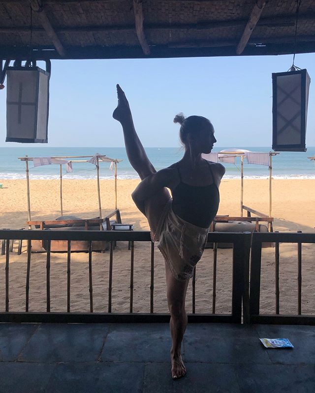 Has a bee ever landed on you, and instead of being scared, you appreciate the possibility that you got confused for a flower?  #yoga #yogaretreat #yogalove #birdofparadise #asana #yogagirl #yogalove #yogini #southgoa #goa #india #beach #paradise #corvorindo