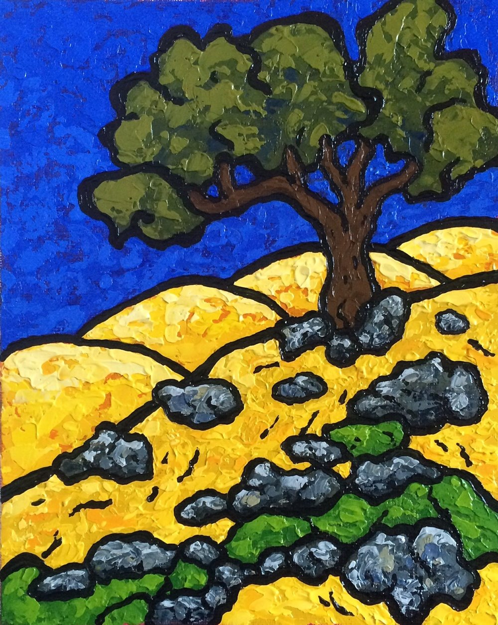 California Summer Blue, Gold, and Green - 8x10