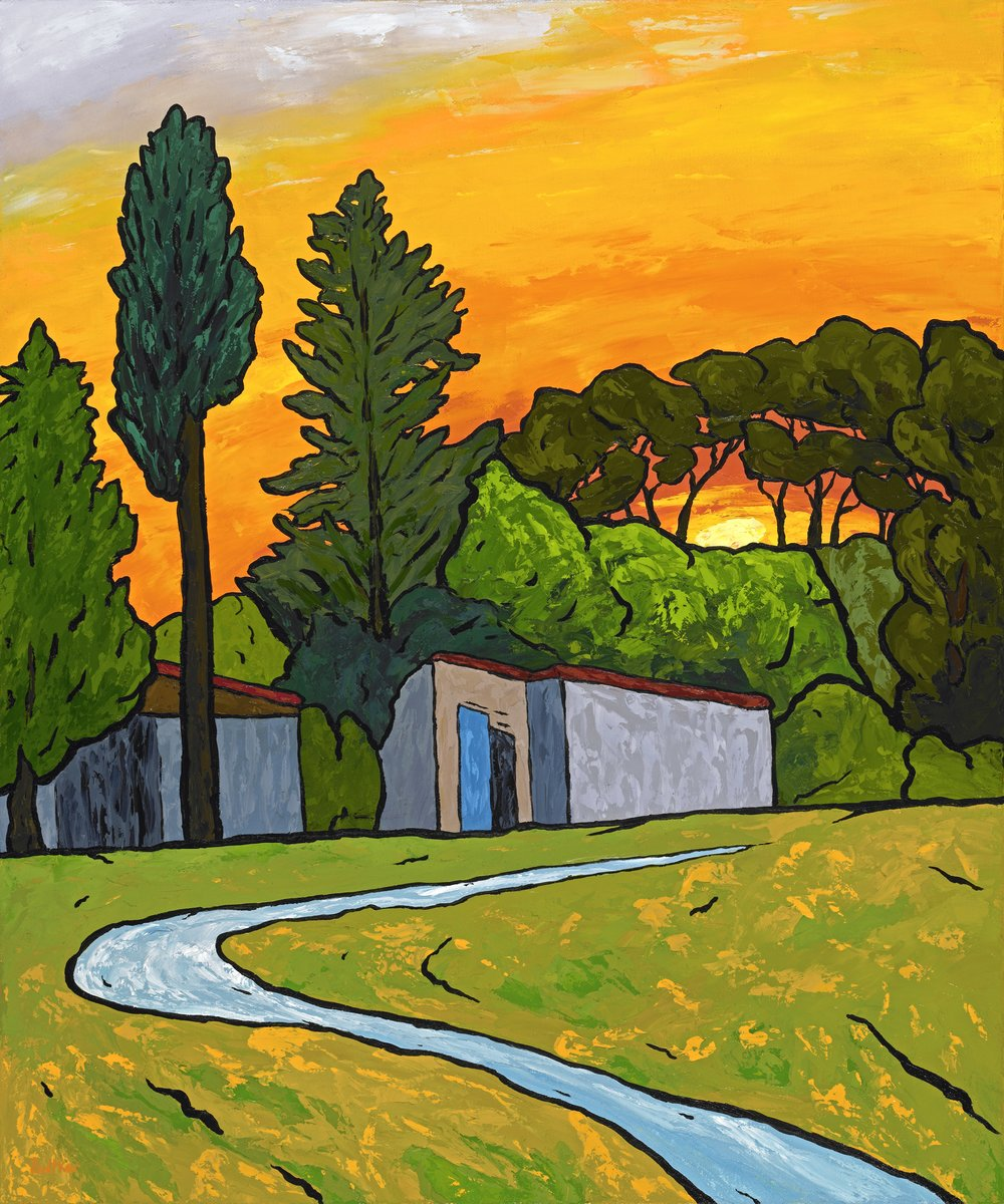 Sunset Over Glanum and Saint Remy - 24x20