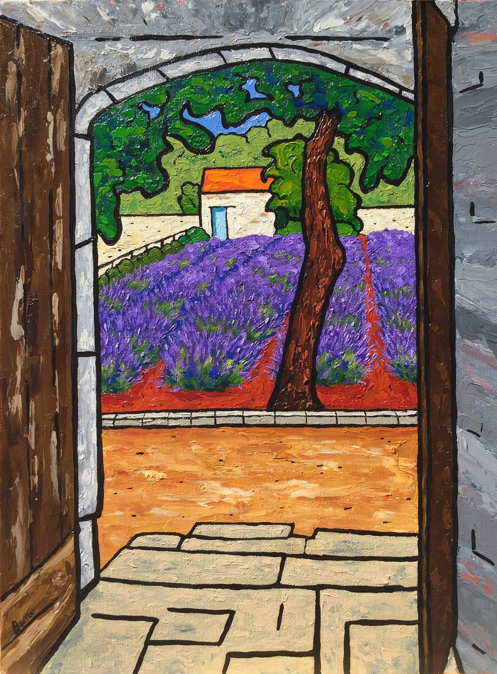 Saint Paul de Mausolee Lavender in Saint Remy De Provence - 16x12
