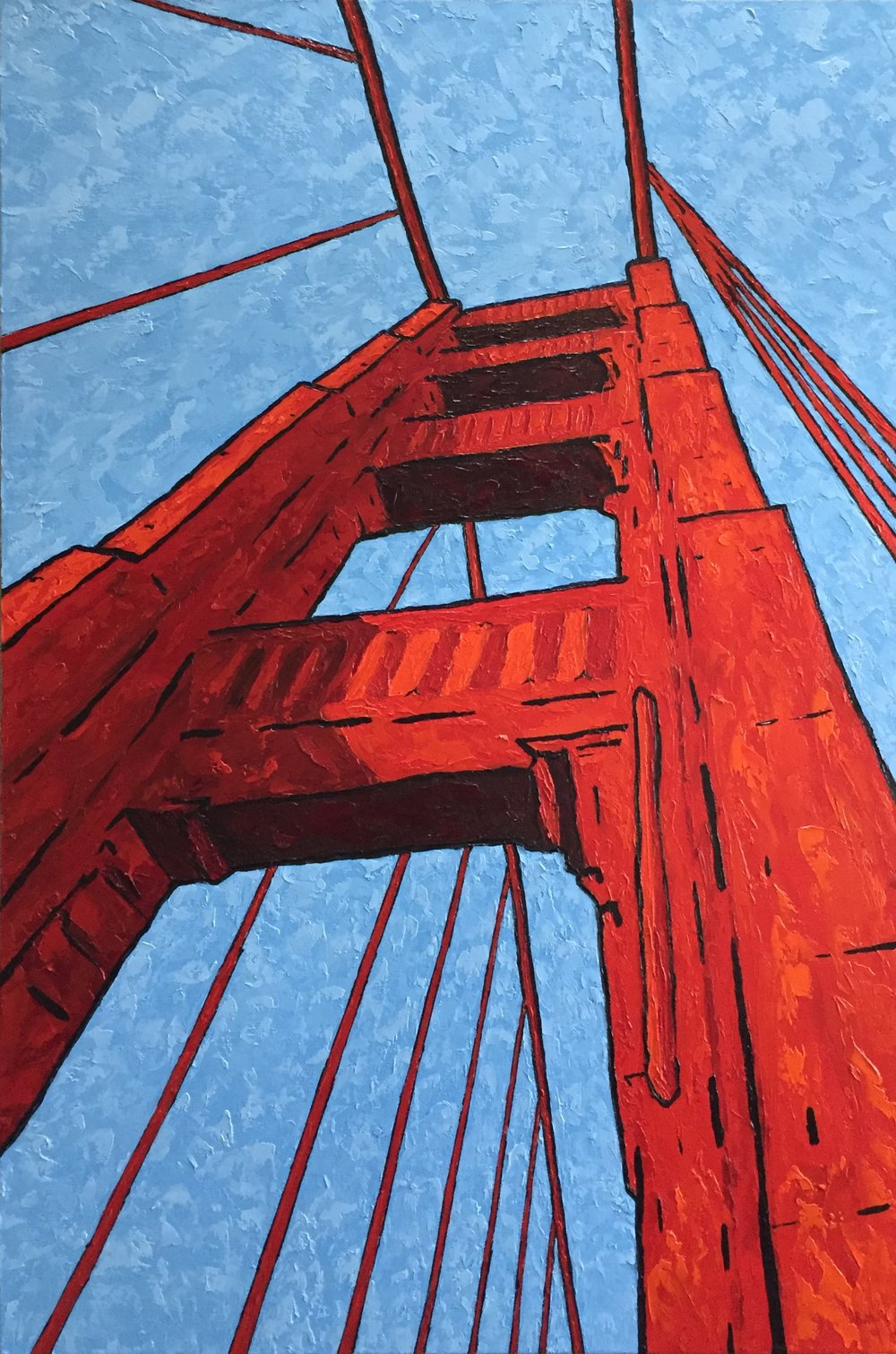 Whats Up Golden Gate - 36x24