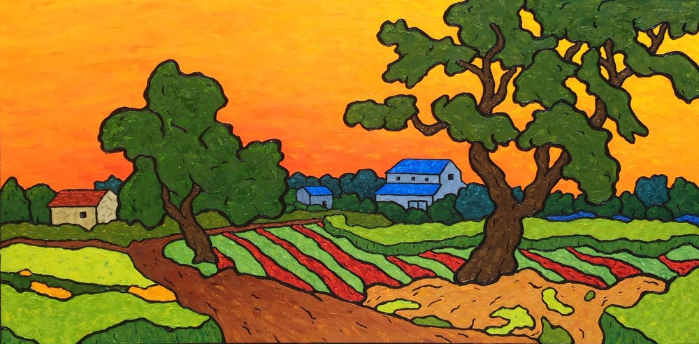 Farmland at Twilight - 24x48