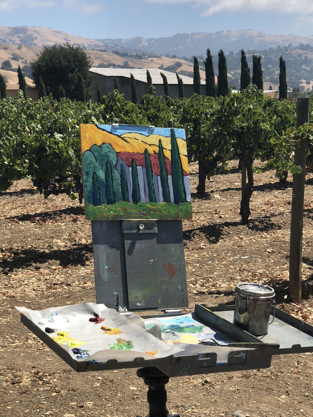 Work in progress at Guglielmo Winery