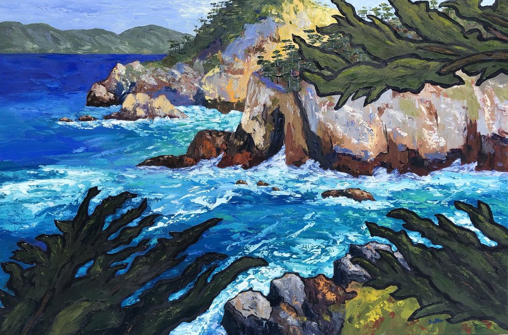 Morning at Point Lobos Cypress Cove - 24x36