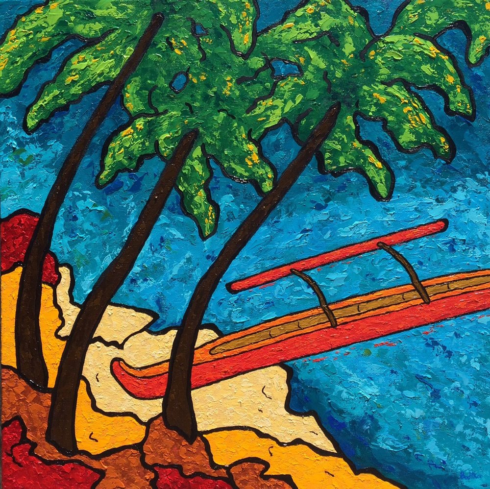 Hawaiian Outrigger - 24x24
