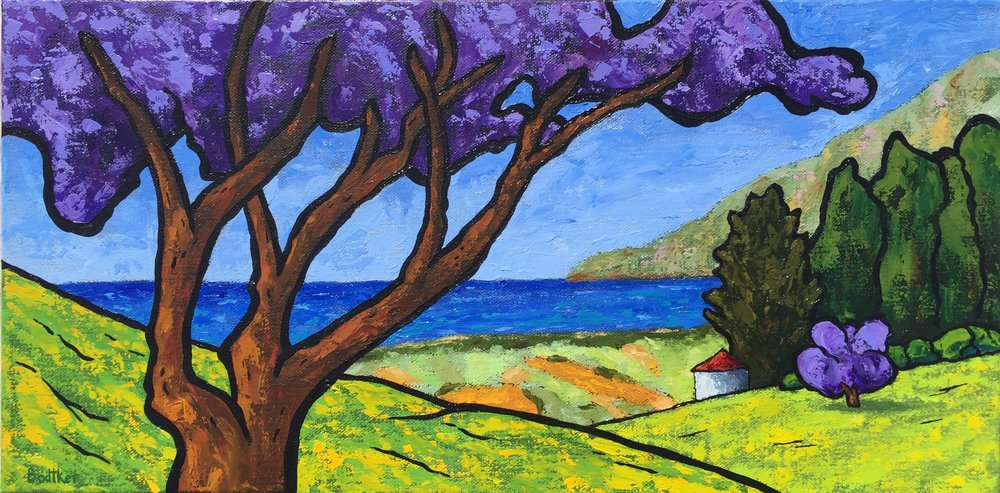 Maui's Upcountry Jacaranda Trees - 10x20