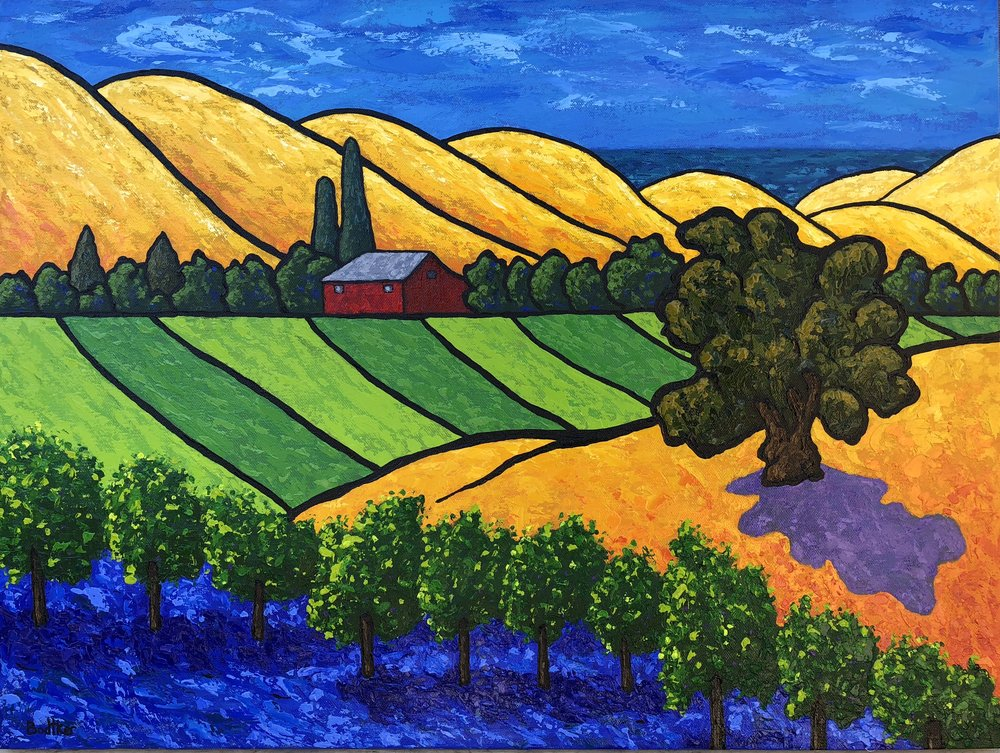 California Vineyard - 18x24