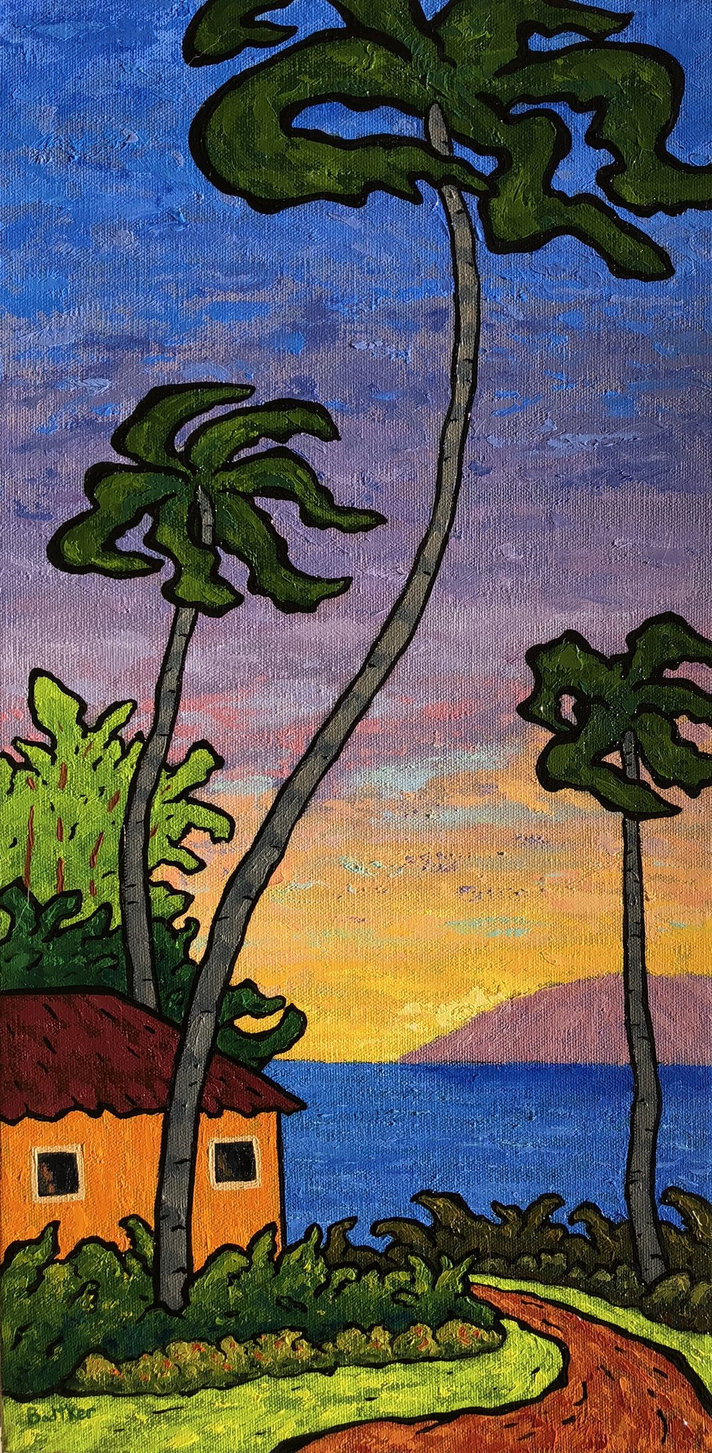 Maui Sunset - 12x24