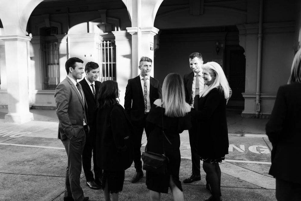 family, black and white, Bridal Portraits, Melbourne City Wedding, Velvet Suit, Royal Wedding, Prince Harry, Duke of Sussex, Elegant, Modest, Yarra Valley Weddings, Melbourne Weddings, Rachel Gilbert, Fowler Flowers, Simple, love, bridal prep