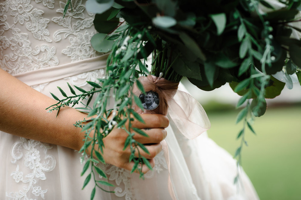 DIY wedding, faux flowers, Yarra valley Weddings, Bridal Bouquet, Melbourne Weddings, Destination Weddings, Father of the bride, deceased, Always in our hearts, Wedding day ready, hello may, lace,