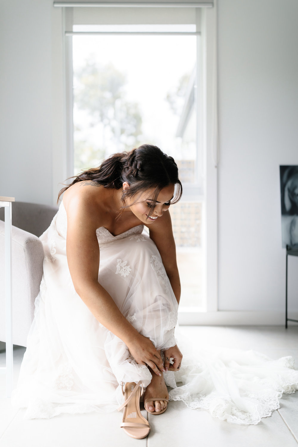 DIY wedding, final touches, bridal prep, excitement, getting ready, Yarra valley Weddings, Melbourne Weddings, Destination Weddings, Wedding day ready, hello may, lace,