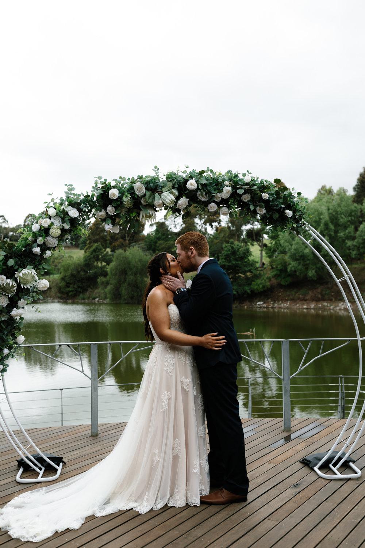 DIY wedding, Faux flowers, first kiss, Yarra valley Weddings, Melbourne Weddings, Destination Weddings, Wedding day ready, hello may, lace, ceremony set up