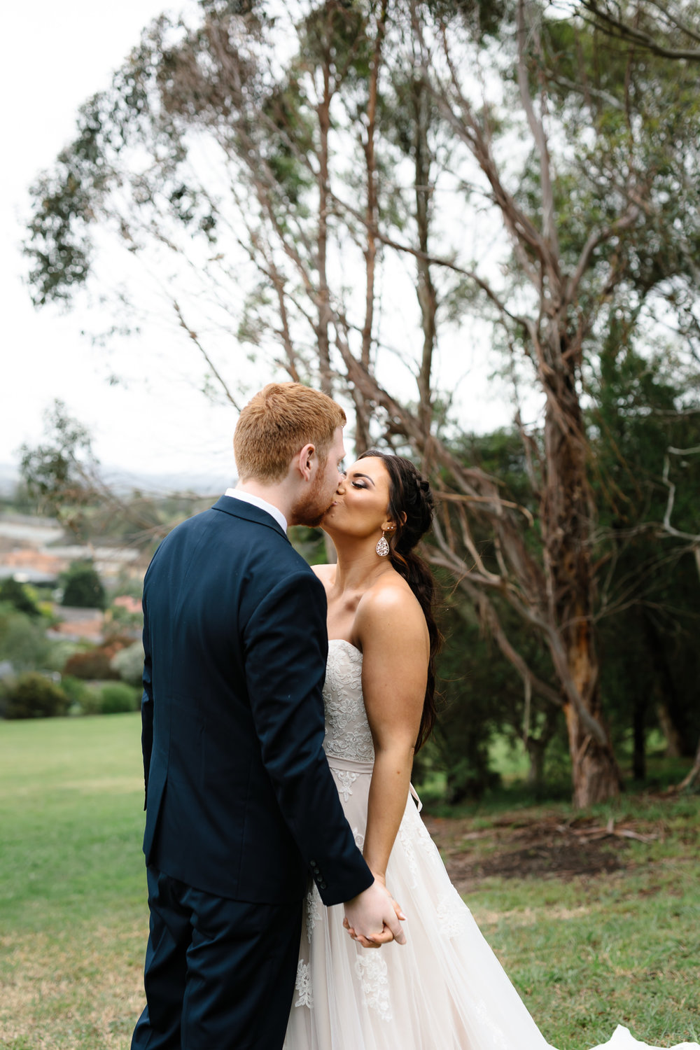 DIY wedding, bridal portraits, first kiss, in love, young love, kiss, emotion, Yarra valley Weddings, Melbourne Weddings, Destination Weddings, Wedding day ready, hello may, lace,