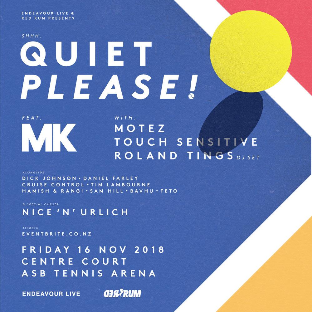 QUIET PLEASE!   ASB TENNIS ARENA, AUCKLAND  Fri Nov 16 2018