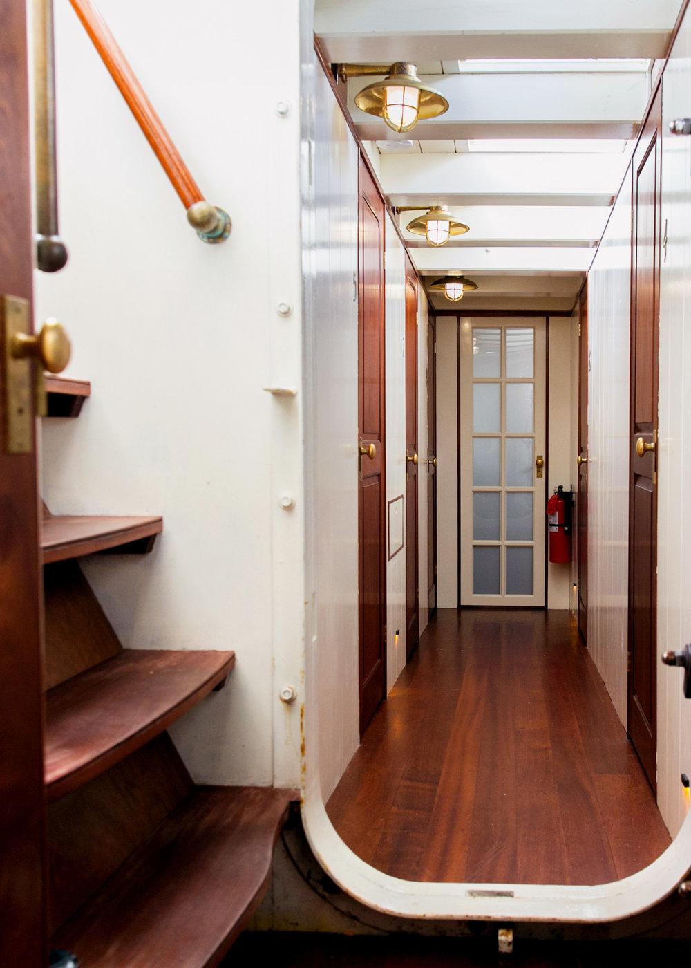 Hallway Below Deck