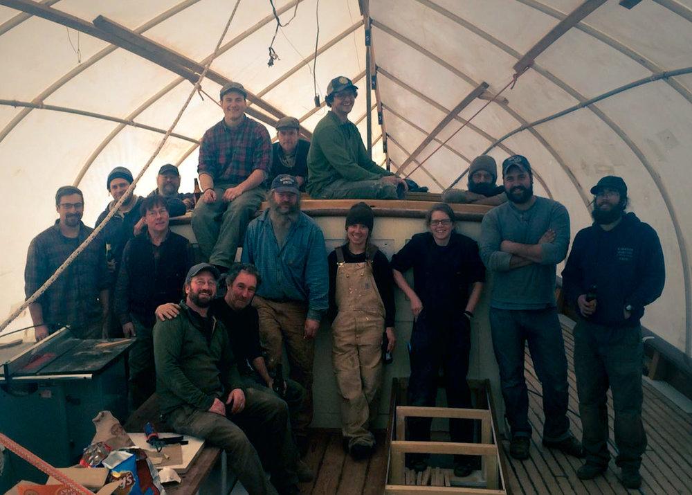 Ladona's hardworking rebuild crew.