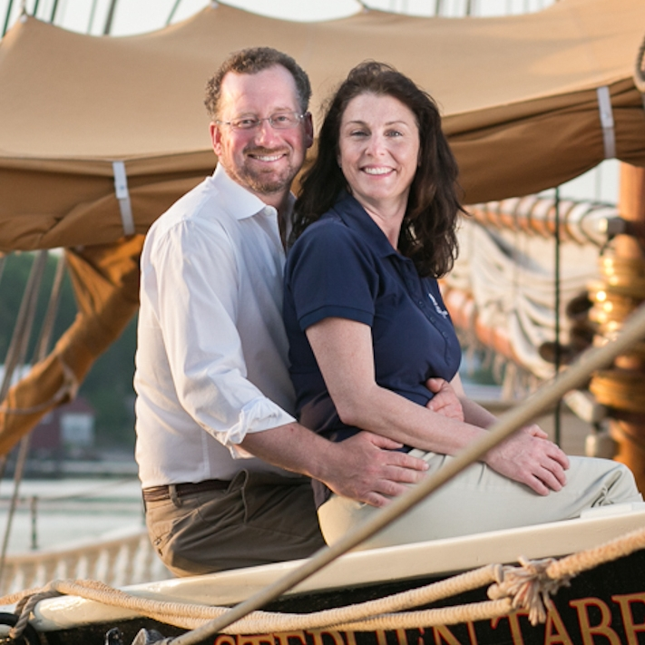 Captain Noah and Jane Barnes welcome you aboard their labor of love. Photo: Nadra Edgerley
