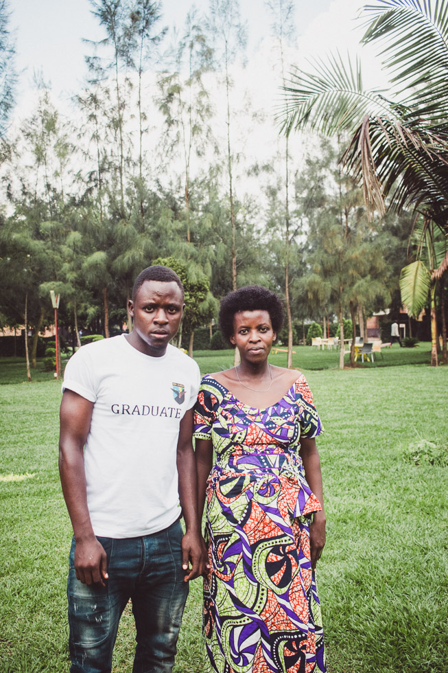 portrait of brother and sister from Rwanda