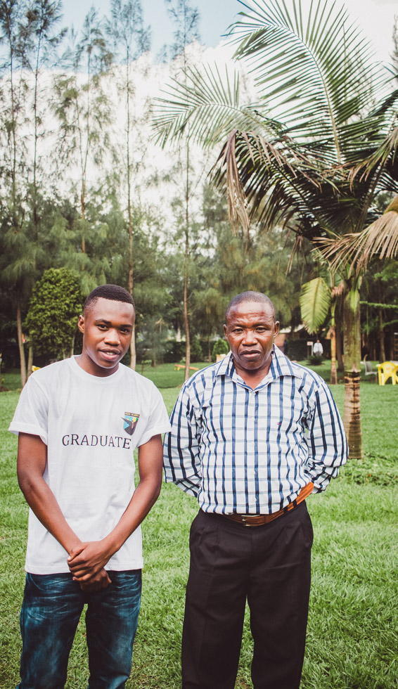 Portrait of Father and son in Rwanda
