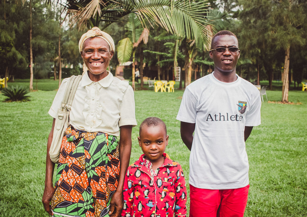 Portrait of family in Rwanda