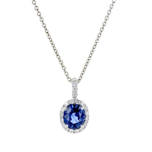 Oval sapphire diamond pendant gemstone pendants washington diamond oval sapphire diamond pendant aloadofball Image collections
