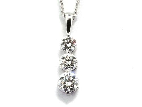3 stone style drop diamond pendant diamond pendants washington 3 stone style drop diamond pendant aloadofball Choice Image