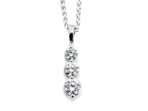 14kw tapered diamond drop pendant diamond pendants washington 14kw tapered diamond drop pendant aloadofball Choice Image