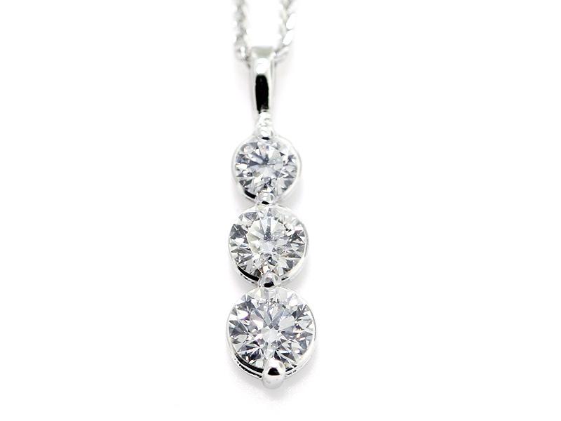 14kw 3 stone style diamond drop pendant diamond pendants 14kw 3 stone style diamond drop pendant aloadofball Image collections