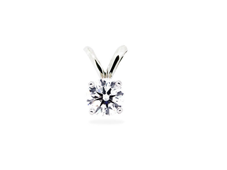 Solitaire diamond pendant 033ct diamond pendants washington diamond solitaire diamond pendant 033ct aloadofball Images