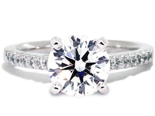 platinum diamond engagement ring setting - Platinum Diamond Wedding Rings