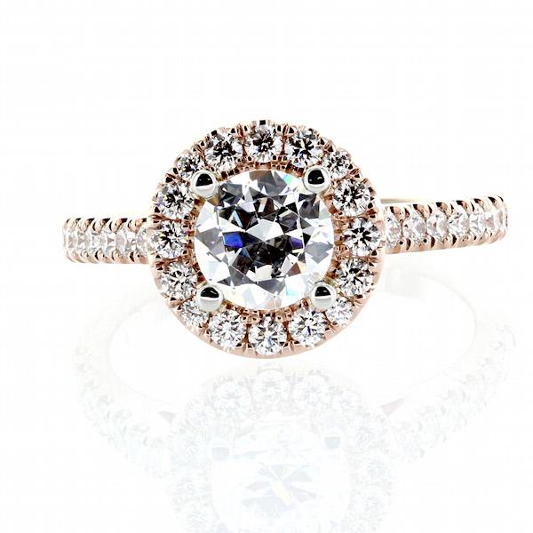 Elegant Custom Aileen Halo Diamond Engagement Ring Setting