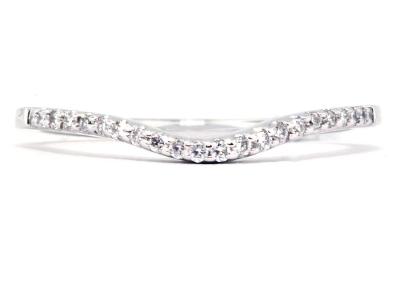 platinum curved style thin diamond wedding band washington diamond