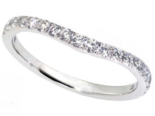 Platinum White Gold Curved Matching Wedding Band