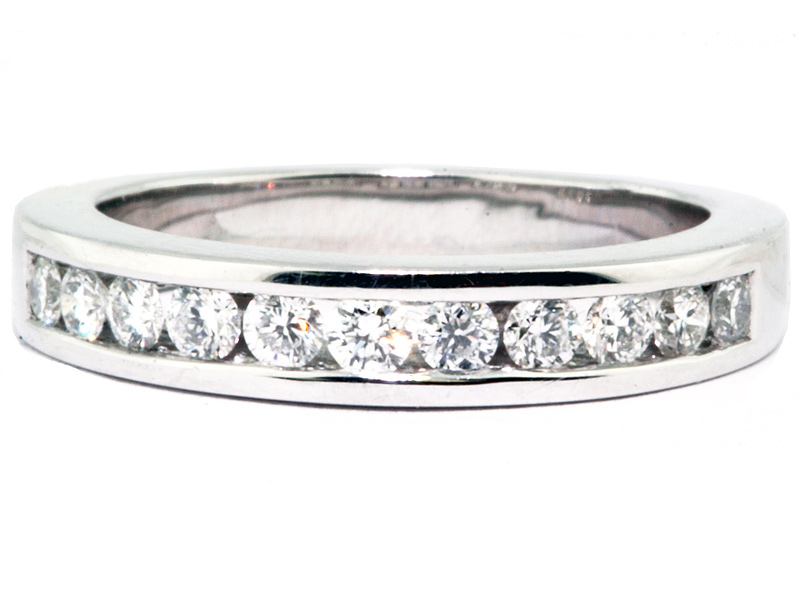 Platinum Channel Set Diamond Wedding Band Washington