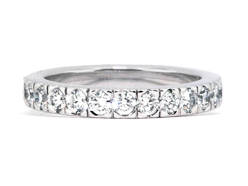 Platinum Eternity Semi-Bezel Set Diamond Wedding Band - 1.40cts ...