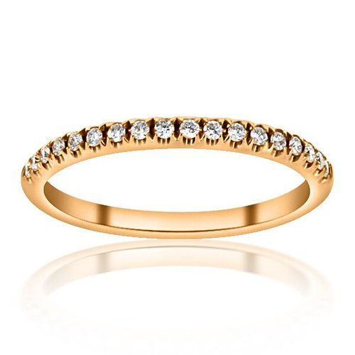 Thin Rose Gold Straight Line Wedding Band