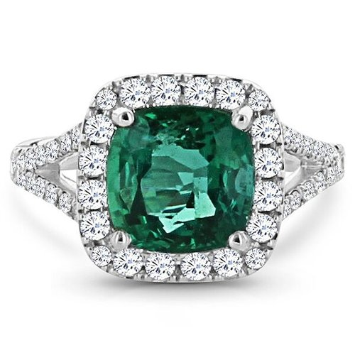 image engagement gold emrald white amor stone rings and ring emerald diamond product
