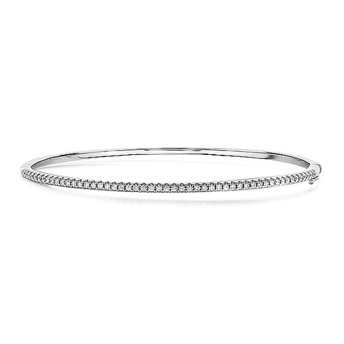 white product diamond bangle single stone gold bangles robinsons