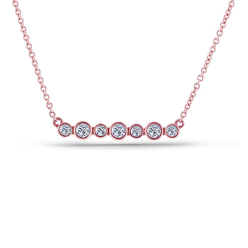 14 karat rose gold bar necklace diamond pendants washington diamond 14 karat rose gold bar necklace aloadofball Gallery