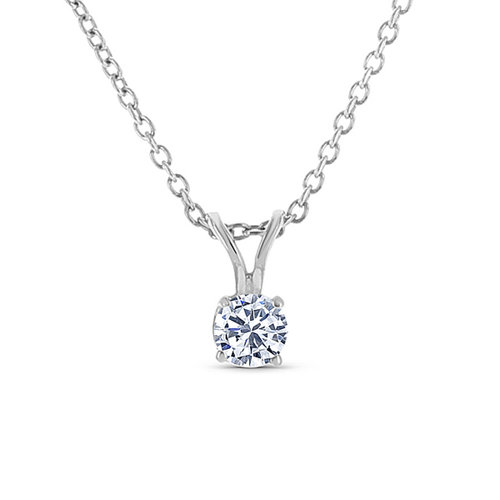 h diamond gold white round bezel pendant solitaire
