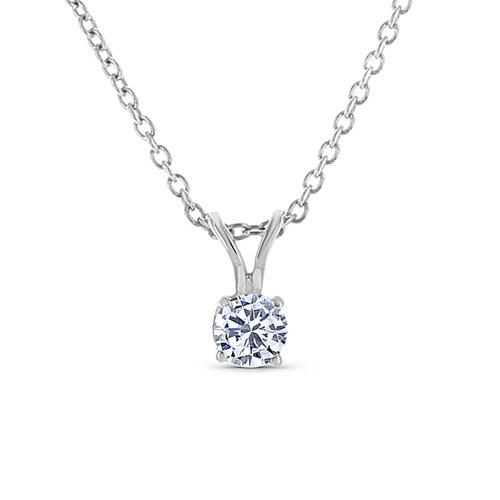 Solitaire diamond pendant washington diamond solitaire diamond pendant aloadofball Image collections