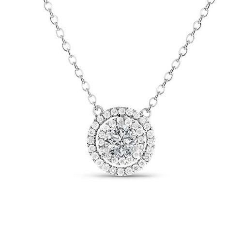 18 karat white gold antares double halo style diamond pendant 18 karat white gold antares double halo style diamond pendant mozeypictures Choice Image