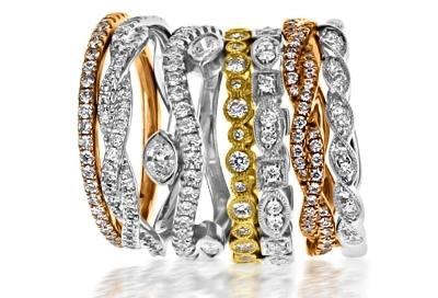Custom Wedding Bands - Stacked Rings