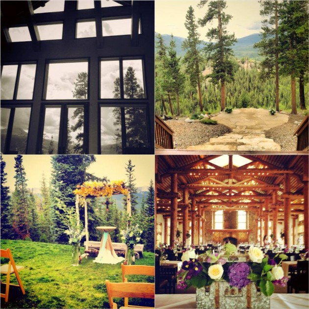 outdoor wedding ceremony locations and venues in breckenridge
