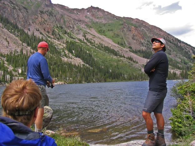 This pic has nothing to do with FTC regulations, but it's something nice to look at. Mountains, fish, and good friends.  What more could you want?  |  photo[Jody and Luke Flory]