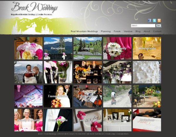 Vendor page for Summit Mountain Weddings was envisioned by Stacy Sanchez of Creative Flowers Inc | Petal and Bean in Breckenridge, Colorado.