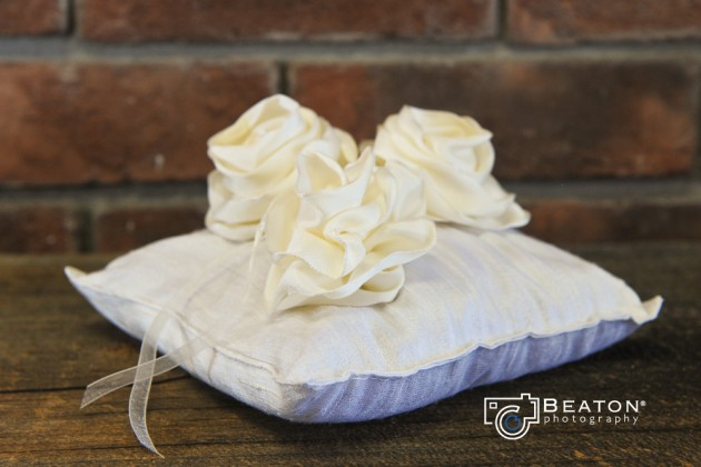 Wedding Blessings | Eco-friendly ring pillows for your wedding. Dupioni silk, flowers and herbs.  |  photo[beatonphotography.com]